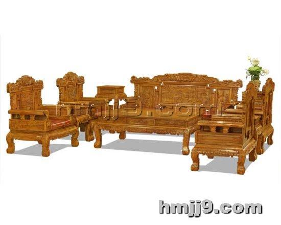 红木家具网提供生产红木如意沙发六件套厂家