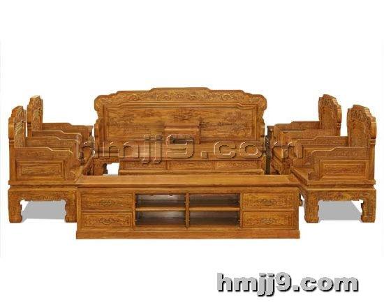红木家具网提供生产红木如意沙发厂家