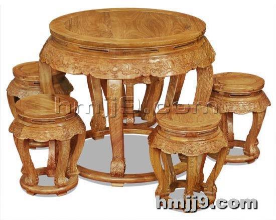 红木家具网提供生产红木古典餐桌椅厂家
