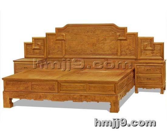 红木家具网提供生产古典双人床厂家
