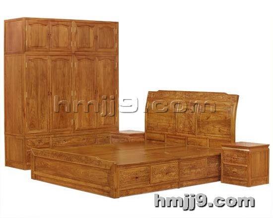 红木家具网提供生产红木双人床柜子厂家