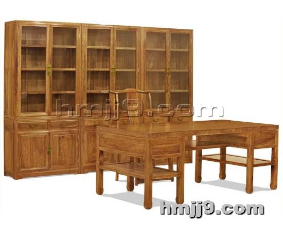 红木家具网提供生产古典书桌书柜厂家