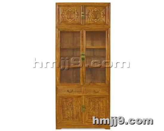 红木家具网提供生产红木顶箱书柜厂家