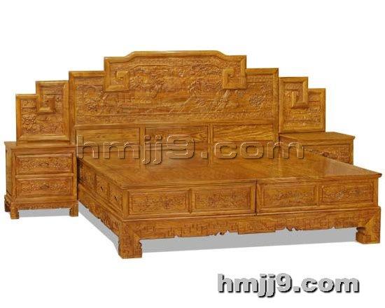 红木家具网提供生产红木双人床厂家