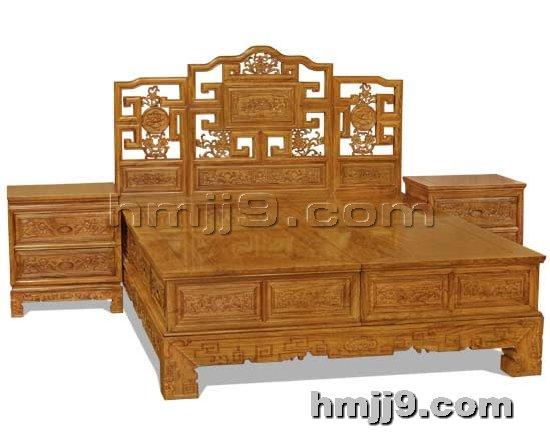 红木家具网提供生产北京红木双人床厂家